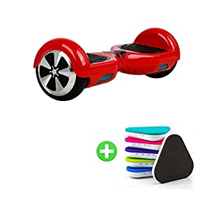 PACK&GOUT 6.5 Inch Two Wheels Mini Smart Self Balancing Scooter,Red