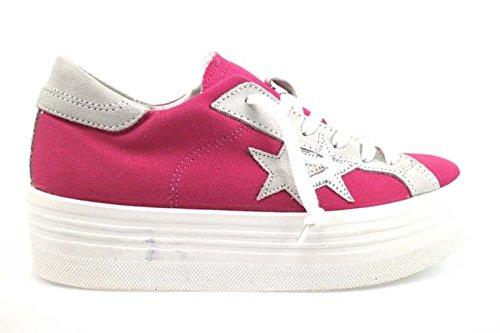 scarpe donna 2 STAR 39 EU sneakers fucsia tessuto camoscio AP700