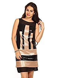 Avirate Women's Body Con Dress (AVDR102167_Beige_10)