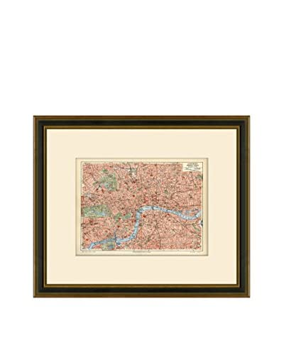 Antique Map of London, 1894-1904