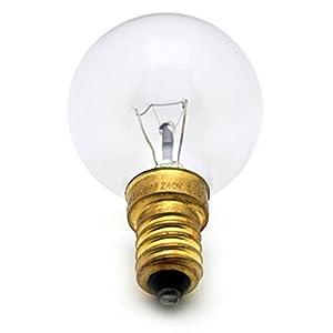 For AEG / BOSCH / PHILIPS 40 WATT E14/SES OVEN LAMP LIGHT BULB 300 DEGREES - 14mm Diameter SMALL SCREW CAP FITTING by FIRST4APPLIANCESPARES