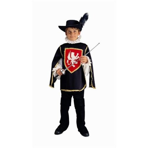 RG Costumes 90077-R-L Musketeer Red Costume - Size Child-Large