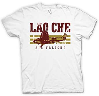 Womens T Shirt Lao Che Air Freight - Indiana Jones Inspired - White - Ladies - 16