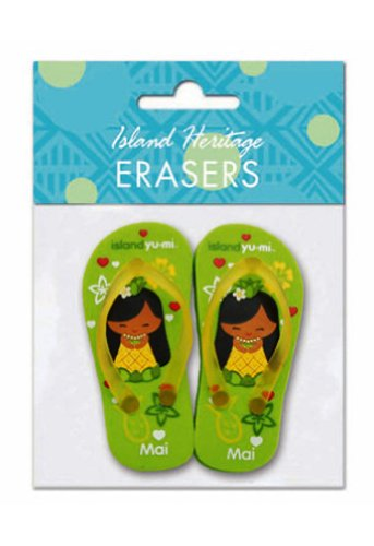 Hawaiian Pencil Erasers Island Yumi Mai Slippers - 1