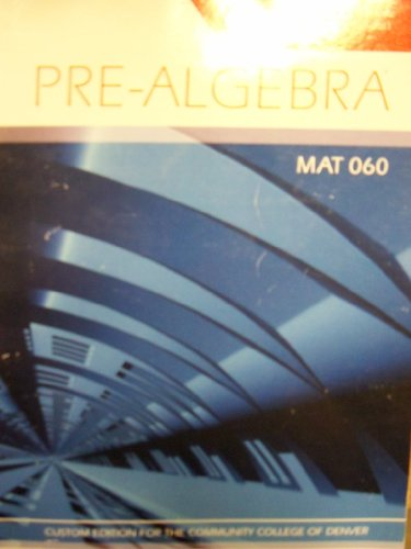 Pre-algebra (Community College Of Denver) [Fall/Spring 2011]