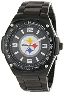 Game Time Unisex NFL-WAR-PIT Warrior Pittsburgh Steelers Analog 3-Hand Watch by Game Time