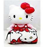 Sanrio Hello Kitty Large Plush and Fleece Throw Bed Blanket 2 pieces Set