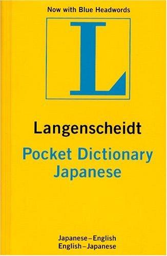 Langenscheidt's Pocket Dictionary Japanese/English English/Japanese