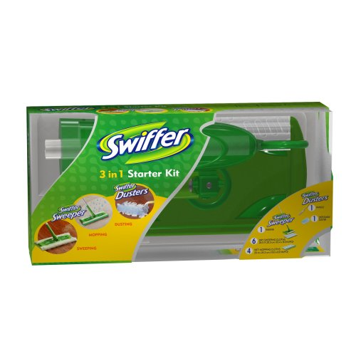 Swiffer Sweeper 3 in 1 Mop and Broom Floor Cleaner & Swiffer Dusters Disposable Unscented Cleaning Dusters Starter Kit (Dry Cleaner Starter Kit compare prices)