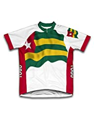 Togo Flag Short Sleeve Cycling Jersey for Women