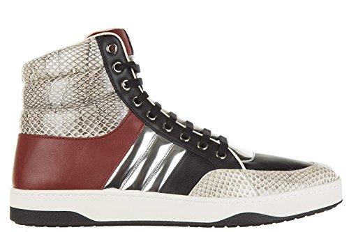 Gucci-zapatos-zapatillas-de-deporte-largas-hombres-en-piel-nuevo-ayers-negro