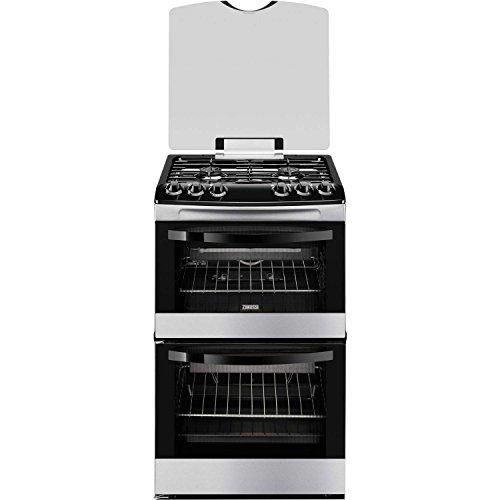Zanussi ZCG43000XA Avanti 55cm Double Oven Gas Cooker Stainless Steel
