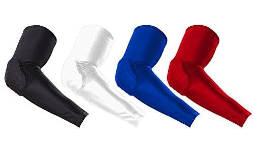kungken-schutz-compression-antislip-arm-long-sleeve-mit-wabe-crash-proof-pad-2-stuck-xl-rot-rot
