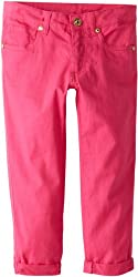US Polo Association Big Girls' Capri Skinny Pant with Roll Cuffs