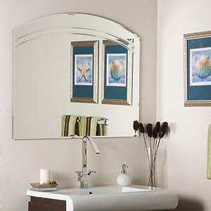 Angel large frameless bathroom wall mirror - Large bathroom wall mirror ...