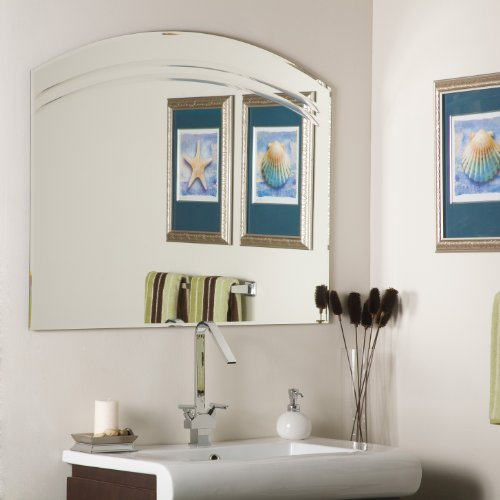 Black friday angel large frameless bathroom wall mirror for Large mirrors for bathroom walls
