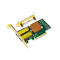 PCIE TO NIC,COOSO Intel 82599es Profile 2-SFP PortS PCI Expressx8 PCIEx8 Ten-Gigabit NIC Server Adapter Network Card,Designed for Internet cafes, companies, large servers,(82599es)