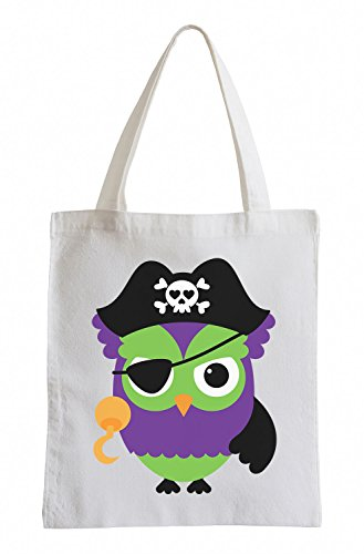 Raxxpurl Pirate Owl Fun sacchetto di iuta