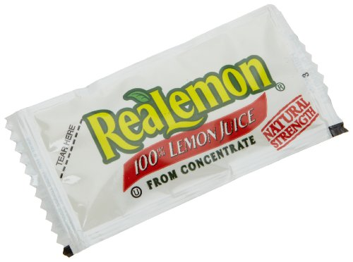 ReaLemon 100% Lemon Juice from Concentrate, 0.14-Ounce Single Serve Packages (Pack of 200) (Juice Packets compare prices)