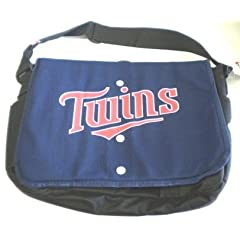 Minnesota Twins Jersey Messenger Bag 15.5 x 4 x 11 by MLB