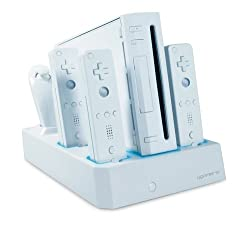 Quad Remote Charging Stand Use With Nintendo Wii