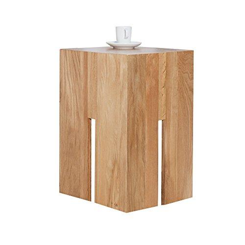 Massiver-Hocker-CASTLE-50-cm-Wildeiche-natur-gelt-Massivholz-Beistelltisch-Holztisch-Fuhocker