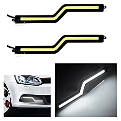 Autosun Daytime Running Lights Cob LED DRL ( White Zigzag Shape) for Maruti Suzuki - Alto (Old)