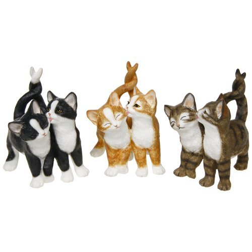 Playtime Affection Twin Cats Black & White Decorative Ornament by Leonardo