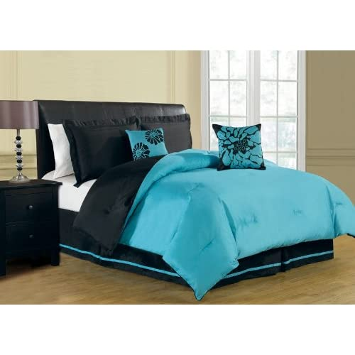 Amazon.com - 6 Piece King Harper Reversible Comforter Set ...