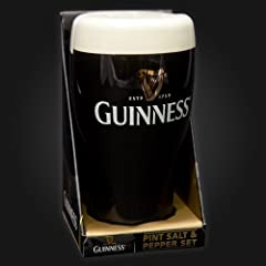 Guinness Pint Salt & Pepper Condiment Set