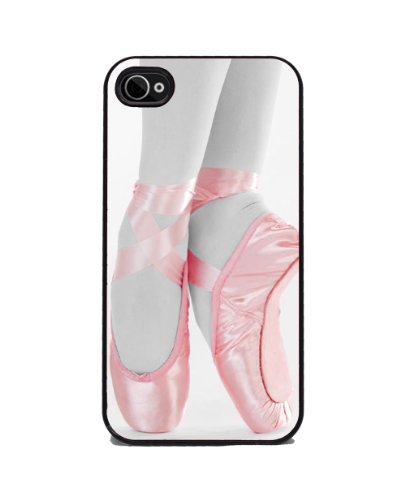 Ballet Pointe Shoes iPhone 4 or 4s Cover Cell Phone Case Black