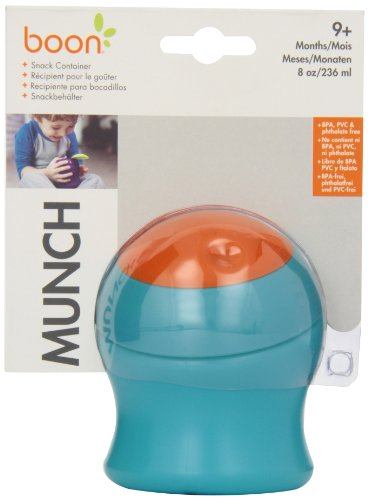Boon Munch Snack Container,Blue/Orange (Discontinued by Manufacturer)