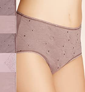 5 Pack - Cotton Rich Assorted Low Rise Midi Briefs