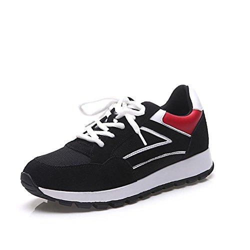 songyunyanloisirs-de-plein-air-korean-fashion-plats-chaussures-de-course-femme-black-40