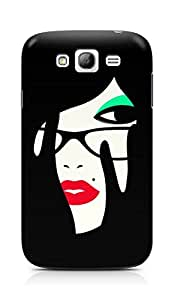 Amez designer printed 3d premium high quality back case cover for Samsung Galaxy Grand i9082 (Girl face makeup minimalism vector graphics)