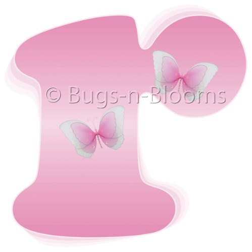 """r"" Pink Butterfly Alphabet Letter Name Wall Sticker - baby nursery girls room decor baby nursery girls room decor decoration decorations mural stickers bedroom"
