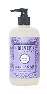 Mrs. Meyer's Clean Day Liquid Hand Soap, Lilac, 12.5 Fluid Ounce