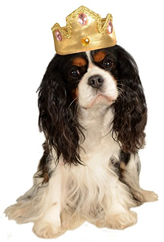 Rubies Pet Princess Halloween Costume Gold Dog Hat Tiara тонер картридж для лазерных аппаратов lexmark cs510de cs510dte black extra high yield corporate cartridge 8k 70c8xke