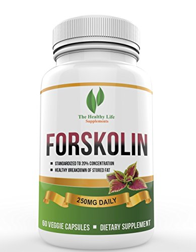 Pure Forskolin Capsules - Highest Grade Supplement & Powerful Antioxidant, Helps in Weight Loss and Boosts Energy for Women & Men