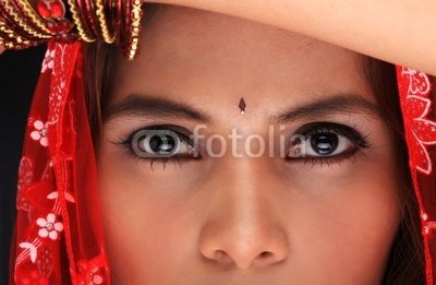 """Wallmonkeys Peel and Stick Wall Decals - Close up of an Ethnic Woman - 18""""W x 12""""H Removable Graphic"""