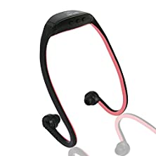 buy Abcgoodefg® Usb Sport Wireless Handsfree Headset Headphone Earphone Mp3 Player Black (Red)