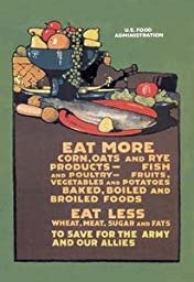 Paper poster printed on 20 x 30 stock. U.S. Food Administration Advisory