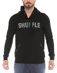 Shuffle Men's Poly Cotton Sweatshirt (8907423024205_2021518301_Small_Black)