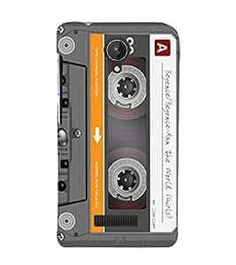 EPICCASE Audio Cassete Mobile Back Case Cover For Micromax Canvas Spark Q380 (Designer Case)