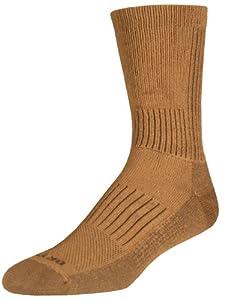Drymax Hiking HD Crew Socks, Dark Brown, Small