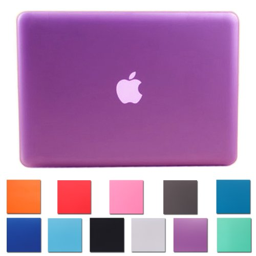 Big Save! HDE Frosted Matte Rubber Coated Hard Shell Clip Snap-on Case Skin Cover for MacBook Pro 13...