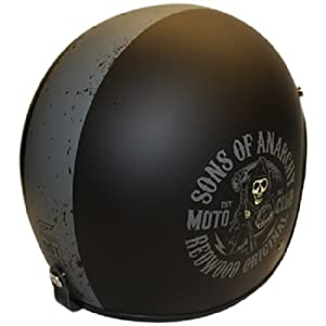 Fulmer V2 Club Open Face Sons of Anarchy SOA Medium Motorcycle Helmet
