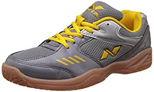 Nivia Hy-Court Badminton Shoes, UK 5 (Grey)