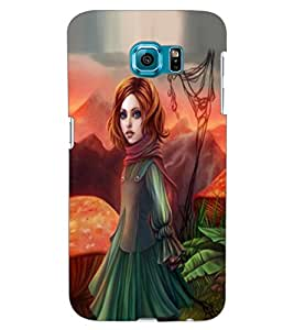 ColourCraft Beautiful Girl Design Back Case Cover for SAMSUNG GALAXY S6 EDGE G925