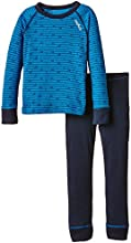 Odlo Set Warm Collant + T-Shirt manches longues Enfant Directoire Blue/Navy New FR : 4 ans (Taille Fabricant : 104)